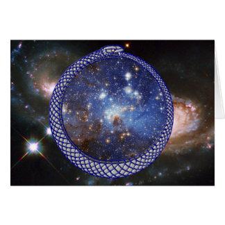 Ouroboros Galaxy - Greeting Card