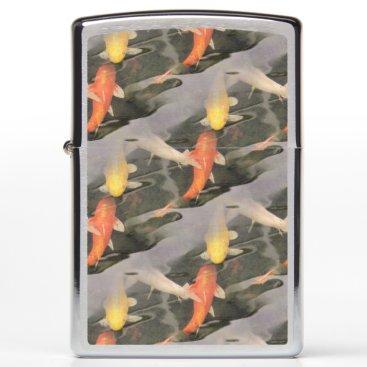USA Themed Ouroboros koi zippo lighter