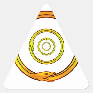 Ouroboros Pegatina Triangular