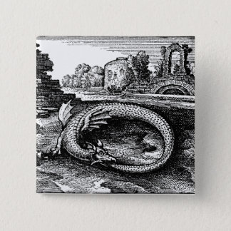 Ouroboros Serpent Pin-back Button