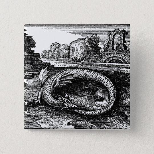 Ouroboros Serpent Pin-back Button