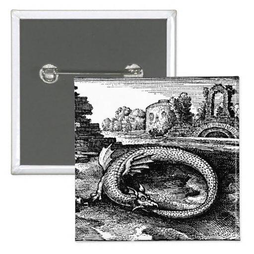 ouroboros serpent pin-backs