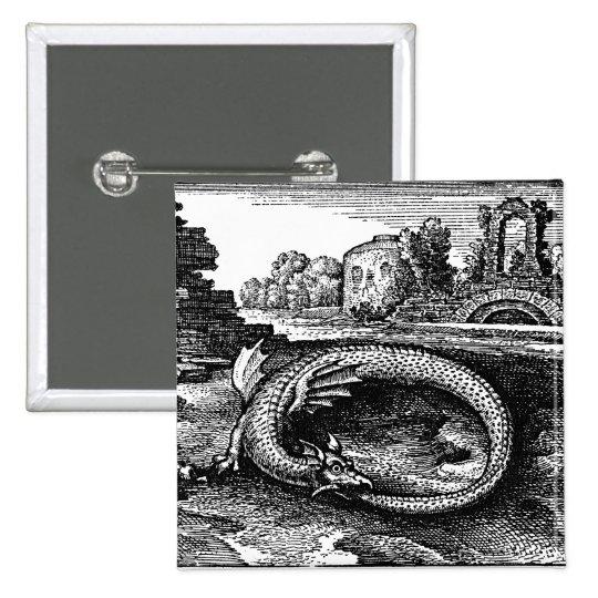 ouroboros serpent pin-backs button
