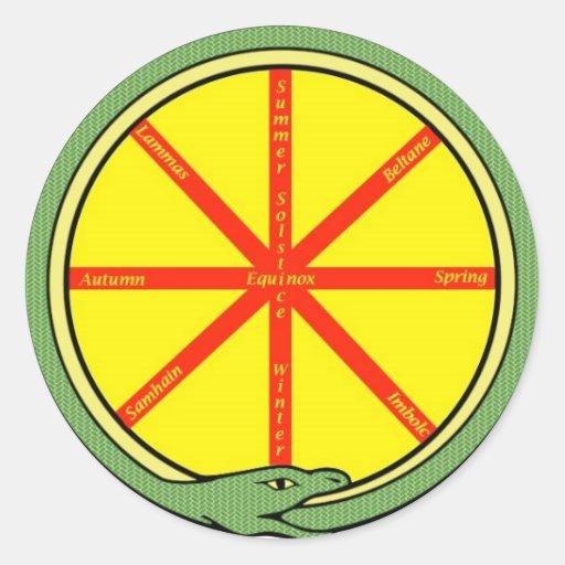 Ouroboros wheel classic round sticker