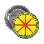 Ouroboros wheel pinback buttons