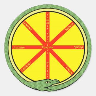Ouroboros wheel round sticker