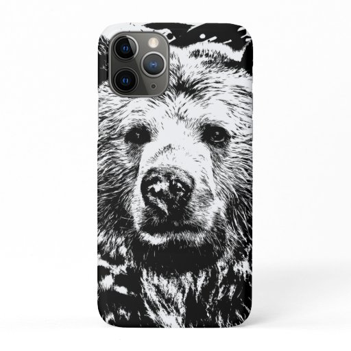 Ours Brun Animal Forêt Sauvage Jungle Nature Monde iPhone 11 Pro Case