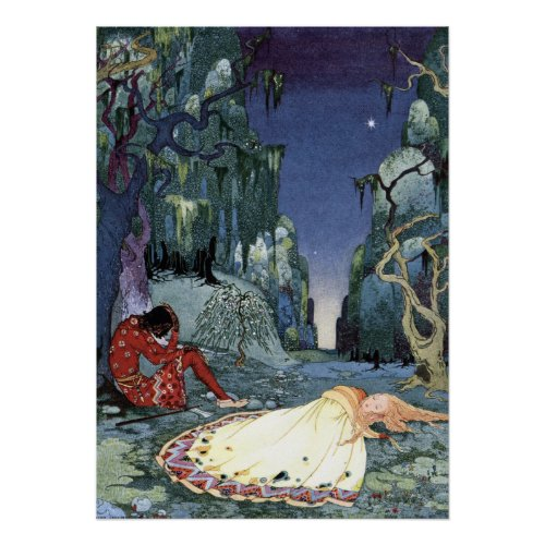 Ourson and Violette by Virginia Frances Sterrett Poster