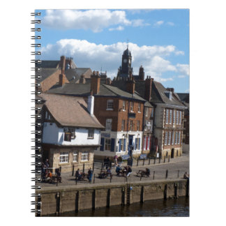 Ouse del río de reyes Staith York Spiral Notebooks