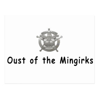 Oust of the mingirks postcard