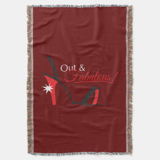 Out and Fabulous! Throw Blanket