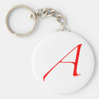 Out and Proud Atheist Basic Round Button Keychain