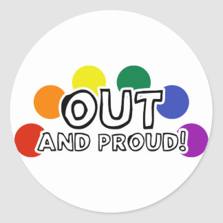 Out And Proud Classic Round Sticker