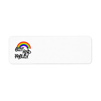 Out and Proud Custom Return Address Labels