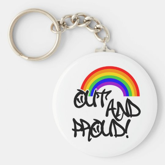Out and Proud Keychain