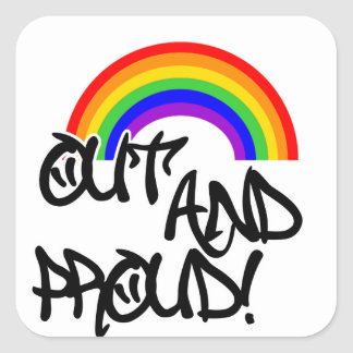 Out and Proud Square Sticker