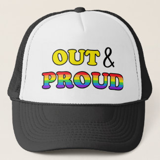 Out and proud to be gay hat