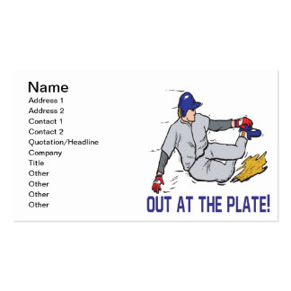 Out At The Plate Business Card