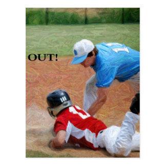 out baseball2 postcard
