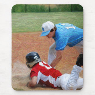 out baseball mouse pad