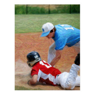 out baseball postcard