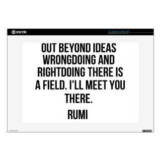 """Out beyond ideas... Rumi 15"""" Laptop Decal"""