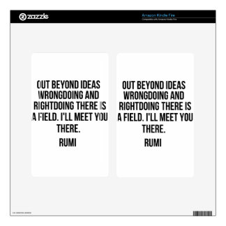 Out beyond ideas... Rumi Kindle Fire Decal