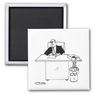Out Box Is A Trash Can Refrigerator Magnet
