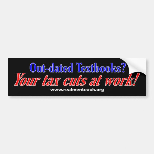 Out-dated Textbooks (black) Bumper Sticker