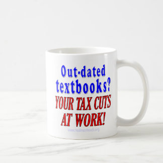 Out-dated textbooks classic white coffee mug