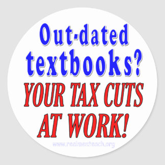 Out-dated textbooks sticker