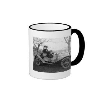 Out for a Ride, early 1900s Ringer Mug