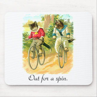 Out for a spin mouse pad