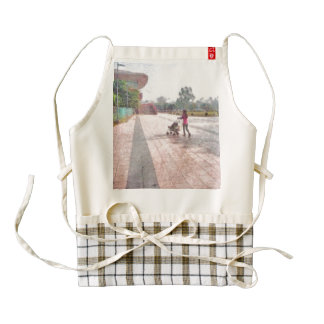 Out for a stroll zazzle HEART apron