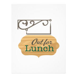 Out For Lunch Customized Letterhead