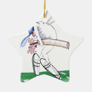 out for nought - cricket, tony fernandes ceramic ornament