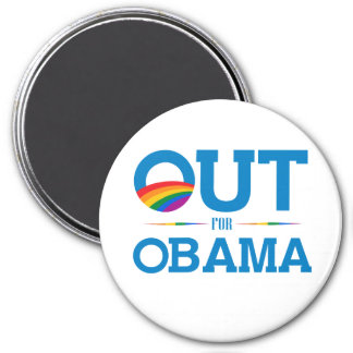 Out for Obama 3 Inch Round Magnet
