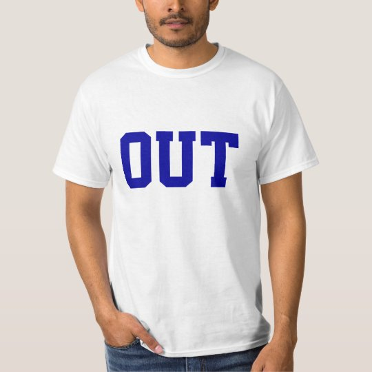 """""""Out"""" Funny Tennis T-Shirt"""