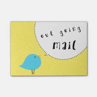out going mail apartment bird cute Post-It Notes