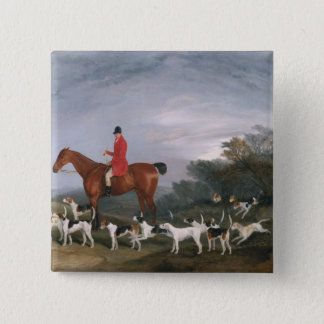 Out Hunting, 1841 Pinback Button