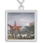 Out Hunting, 1841 Square Pendant Necklace