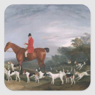 Out Hunting, 1841 Square Sticker