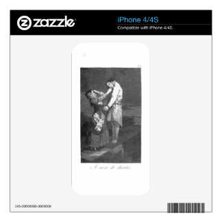 Out hunting for teeth by Francisco Goya iPhone 4 Decals
