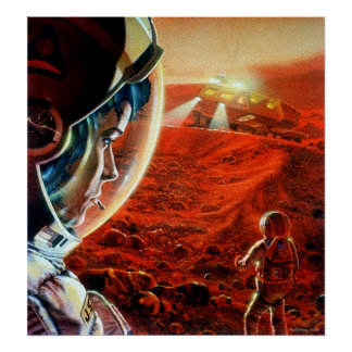 Out in a Martian Dust Storm Poster