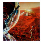 Out in a Martian Dust Storm Posters