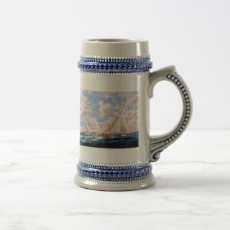 Out in open water 18 oz beer stein