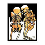 Out in the Cold Skeletons postcard