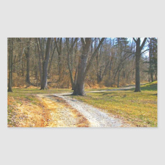 Out Into The Woods Rectangular Sticker