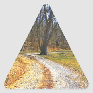 Out Into The Woods Triangle Sticker