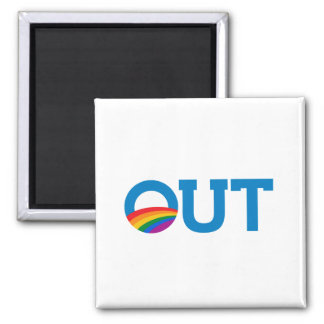 OUT OBAMA 2 INCH SQUARE MAGNET
